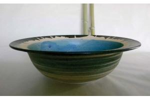 Große Schale / Türkis / Blau Ø 43 cm